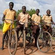 Bicycle for a schoolgirl